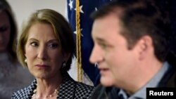 Carly Fiorina da Ted Cruz