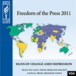 Freedom House mengeluarkan laporan setiap tahunnya mengenai kebebasan pers dan mendudukkan Indonesia di peringkat 108 dari 196 negara.