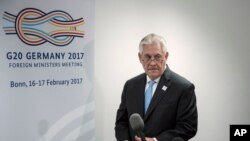 Rex Tillerson, Bonn, Allemagne, le 16 février 2017.