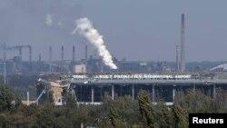 烏克蘭東部城市頓涅茲克國際機場在衝突中被損毀的情況