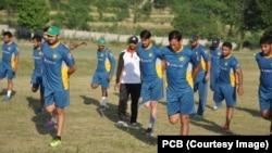 کھلاڑی کاکول اکیڈمی میں مشقوں میں مصروف