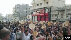 Demonstranti u Siriji