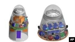 Solda insansız sağda insanlı Dragon kapsülü. Space X şirketi Dragon kapsülünün yolcu taşıyacak modeli üzerinde çalışmalarını sürdürüyor