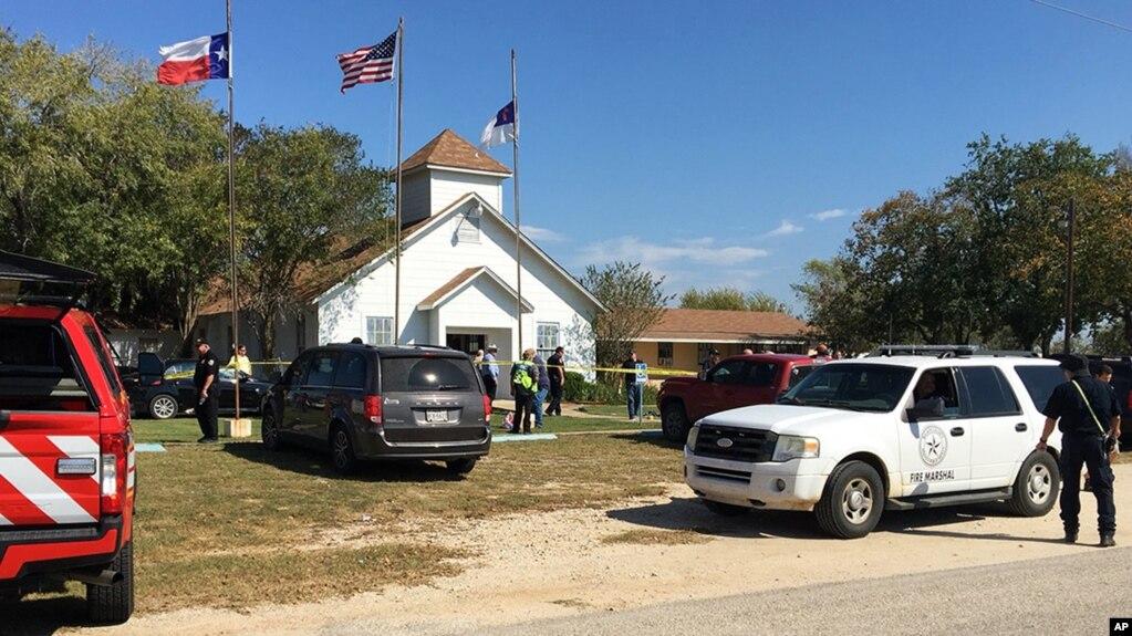 Nhà thờ nơi xảy ra vụ xả súng ở Texas hôm 5/11.