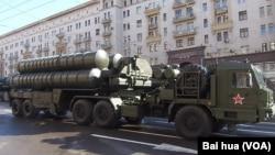 今年5月9日红场阅兵前夕彩排中展示的S-400防空导弹