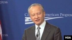 中國駐美大使崔天凱2月20日在華盛頓的一個公開講話中對美國有關中國與鄰國之間的領土爭端的立場提出批評.(視頻截圖)