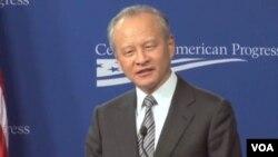 Tân Hoa Xã dẫn phát biểu của đại sứ Trung Quốc tại Mỹ, Thôi Thiên Khải, nói rằng Bắc Kinh hy vọng Washington sẽ thôi có lời nói và hành động ép buộc chống lại Trung Quốc trong vấn đề này.