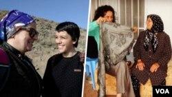 یاسمن آریانی در کنار مادرش منیره عربشاهی - مسیح علینژاد در کنار مادرش