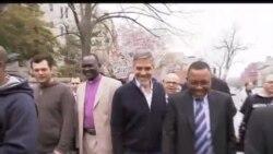 2012-03-17 美國之音視頻新聞: 佐治古尼在蘇丹大使館抗議被捕