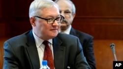 FILE - Russian Deputy Foreign Minister Sergei Ryabkov.