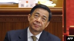 In a file picture taken on March 5, 2012, Chongqing mayor Bo Xilai attends the opening session of the National People's Congress at the Great Hall of the People in Beijing.