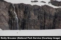 Climbers on the Nisqually Glacier, Mount Rainier National Park