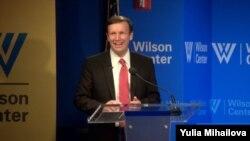 美國國會民主黨籍參議員克里斯托弗·墨菲在威爾遜中心發表外交政策演講。