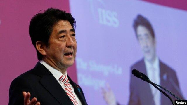 FILE - Japan's Prime Minister Shinzo Abe.