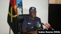 Comandante em exercício da Polícia Nacional em Malanje, subcomissário Pedro Quiambi Pe. Angola