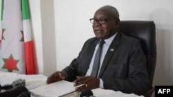 Philippe Nzobonariba, secrétaire-général et porte-parole du gouvernement, à Bujumbura, au Burundi, le 12 septembre 2017.