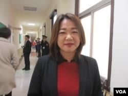 台湾在野党国民党立委马文君(美国之音张永泰拍摄 )
