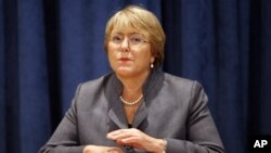 Under-Secretary-General and Executive Director of UN Women Michelle Bachelet pictured on Nov. 23, 2010.