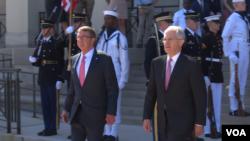 澳大利亞總理特恩布爾2016年9月22日訪問五角大樓 (美國之音黎堡攝)