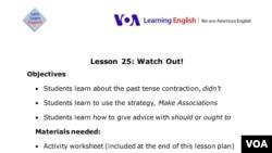 Lesson Plan - Lesson 25
