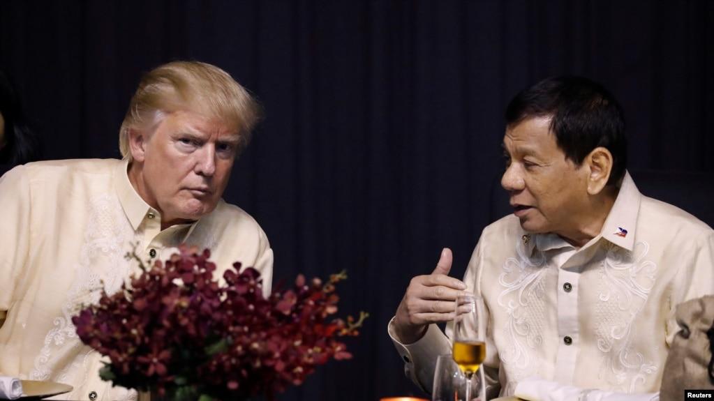 Tổng thống Hoa Kỳ Donald Trump cho biết hôm 13/11 rằng ông đã có một mối quan hệ tuyệt vời với người đồng nhiệm Philippines Rodrigo Duterte.