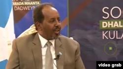 Le président de la Somalie, Hassan Sheikh Mohamud, octobre 2016