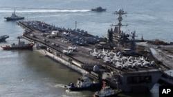 喬治‧華盛頓號核能航空母艦(資料照片)