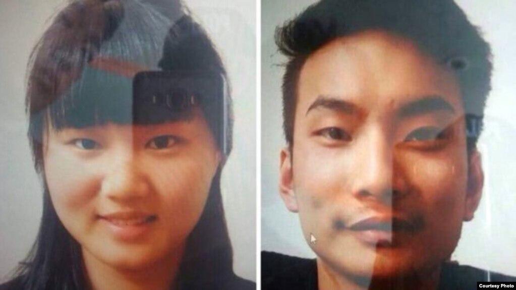 巴基斯坦警方公布的被绑架的两位中国公民照片