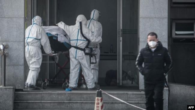武漢一名受新型病毒感染病人星期六(1月18日)被送入金銀潭醫院。