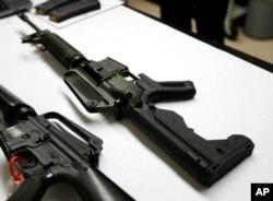 범프 스탁이 부착된 반자동소총. (자료사진)
