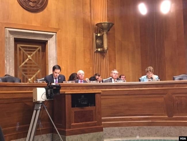 美國國會參議院外交委員會提名確認聽證會(美國之音李逸華拍攝)