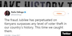 Raila Odinga, umunyepolitike atavuga rumwe na Reta y'igihugu ca Kenya