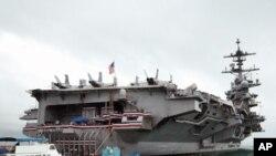 卡爾文森號航空母艦戰鬥群抵達香港訪問