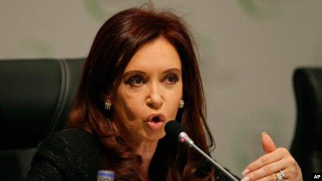 Argentina's President Cristina Fernandez de Kirchner (file photo)