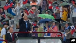 台灣總統馬英九7月4日在主持漢光演習