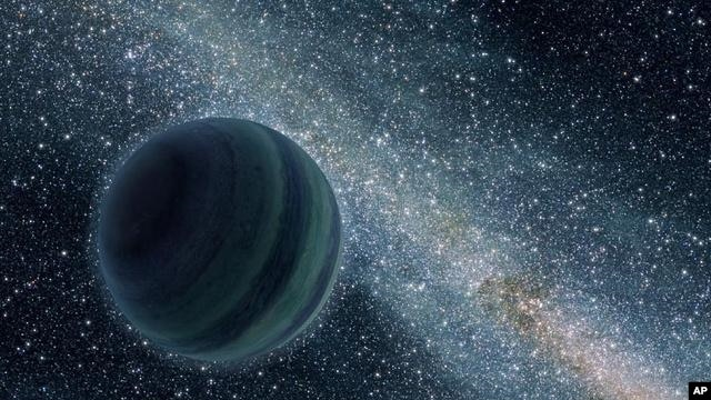 An artist's impression of a free floating planet (Illustration)