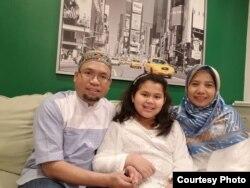 Ketua IMSA Sister, Noviyanti Kurniasari bersama keluarga di New Jersey (dok: IMSA Sister)