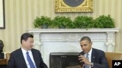 美國總統奧巴馬星期二在白宮會晤中國國家副主席習近平