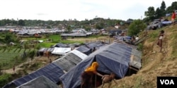 A Rohingya refugee camp near the southern city of Cox's Bazaar in Bangladesh.