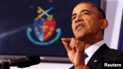 美國總統奧巴馬5月23日在美國國防大學發表講話