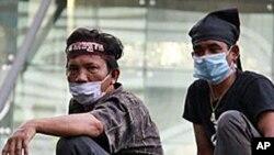 태국의 시위대원들