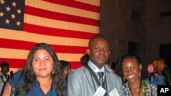 Delegação moçambicana de Jovens Lideres Africanos (esq. para a dir.) Nadja Remane Gomes, Paulo Lopes Araujo e Quitéria Fernando Guirengane
