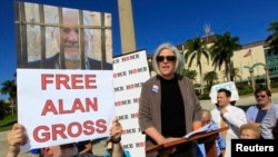 Bà Judy Gross, vợ ông Alan Gross kêu gọi thả tự do cho chồng bà, 11/11/2012.