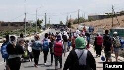 په یونان کې مهاجر - عکس ارشیف