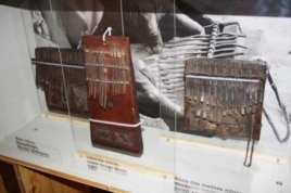 Part of an exhibition to pay tribute to Hugh Tracey and African music contains glass cases filled with ancient instruments he collected (Photo: Darren Taylor)