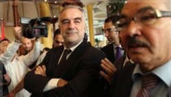 لوئیس مورنو - اوکامپو روز سه شنبه در طرابلس با مقام های مسئول ملاقات کرد. ۲۲ نوامبر ۲۰۱۱