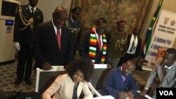 Iziphathamandla zikahulumende wakwele South Africa lowe Zimbabwe ziloba izivumelwano zokulima kulandela umhlangano weBi-National Commission eHarare.
