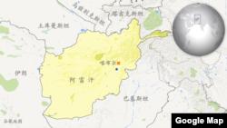 阿富汗地理位置图