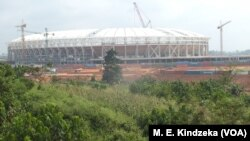 FILE - Olembe stadium on the outskirts of Cameroon's capital, Yaounde, Dec. 1, 2018.