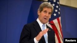 ABD Dışişleri Bakanı John Kerry İstanbul'da düzenlediği basın toplantısında